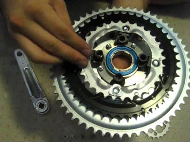 Homemade Freewheel Crank with Triple Chainrings