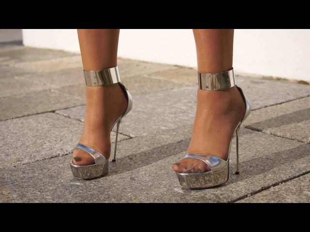 Designer High Heels Gianmarco Lorenzi Silver from 2009 presented by veryluxe