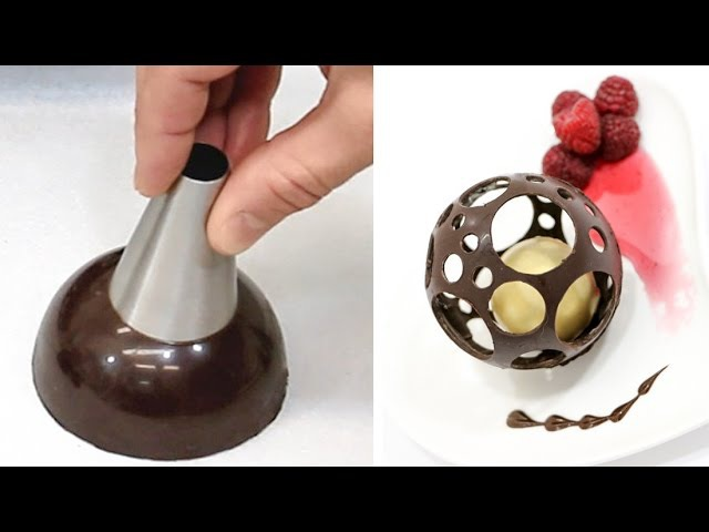 Chocolate Spheres Chocolate Technique HACK Make At Home by CakesStepbyStep