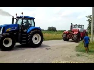 Экспериментатор. битва тракторов new holland t8030 vs к-701 кировец, кто кого?