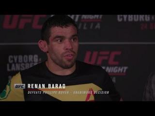 Fight Night Brasilia: Renan Barao Backstage Interview