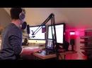 Mein Radio Hamburg Studio mit Motionmixes und Rotlicht
