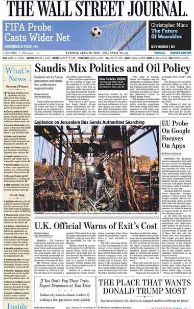 The Wall Street Journal Europe  April 19 2016