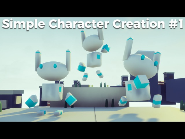 Simple Character Creation 1 - Modelling In Blender [Game Jam Tutorial]