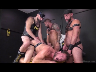 Daddy, bear and man do home orgy with plenty of pound