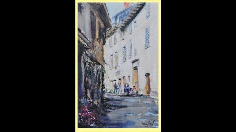 Secrets 14 Saint come d' Olt Fance Watercolour