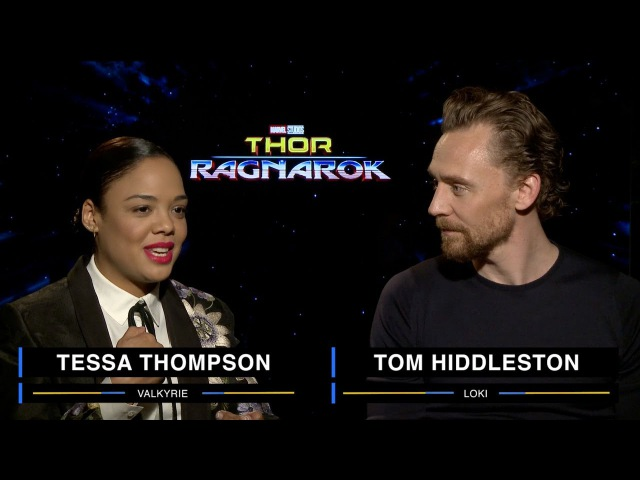 Tessa Thompson and Tom Hiddleston on Marvel Studios' Thor Ragnarok