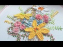 Hand Embroidery: picot stitch work ВЫШИВКА: ПИКО
