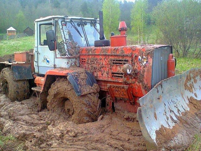 Тракторы на бездорожье МТЗ 82 ХТЗ 150 Т 40 Прут по грязи и снегу Трактористы Tractors offroad NEW