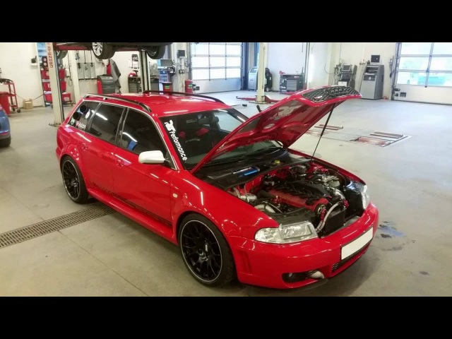 Audi RS4 b5 Avant Quattro with 5cyl 2 5 20vt 940hp 980nm 751 2whp 782 9wnm at 2 3bar of boost E 85
