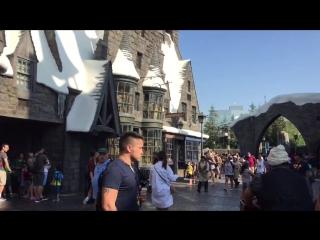 Мир Гарри Поттера, парк Гарри Поттера, Хогвартс, хижина Хагрида, магазин сладостей, сливочное пиво.