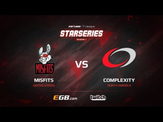 Misfits vs compLexity, map 1 cobblestone, SL i-League StarSeries Season 3 NA Qualifier