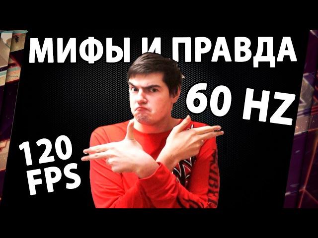 МИФЫ И ПРАВДА О FPS КАДРЫ В СЕКУНДУ 120 FPS НА 60 Hz МОНИТОРЕ ИМЕЮТ СМЫСЛ