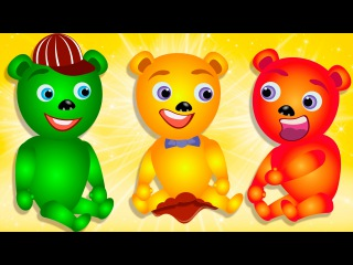 Mega Gummy Bear learn colors dancing finger family rhymes and songs for kids | Ice cream toys