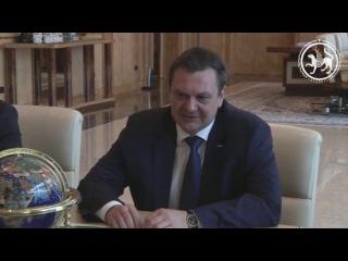 Встреча Президента Республики Татарстан с гендиректором ПАО Мегафон