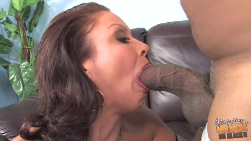 Watching My Mom Go Black Vanessa Videl HD 720, Black, Blowjob, Brunette, Cougars, Cumshot, Facial,