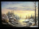 Painting | Snowy Sunset | Paint with Kevin Hill