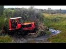 Тракторы ДТ-75 месят грязь на бездорожье! Каждый гусеничный трактор мечтает стать танком! Подборка