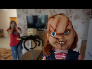 Кукла ЧАКИ и ОНО появились на ХЭЛЛОУИН! Пеннивайз в реальной жизни #4 Nepeta Страшилки
