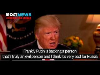Trump calls Assad an 'animal' and 'evil person' after chemical attacks, Trump warns Putin
