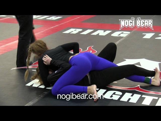 Female No-Gi Grappling Match! • Gina Cavallo vs Amy Gillen • NAGA 02.07.15