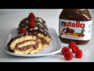 Շոկոլադով Նուտելլայով Ռուլետ - Chocolate Nutella Swiss Roll - Heghineh Cooking Show in Armenian