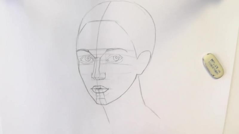 Уроки рисования Как нарисовать ЛИЦО ЧЕЛОВЕКА карандашом Art School