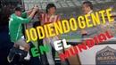 Jodiendo gente en El Mundial de Rusia con Eugenio Derbez y Vadhir Derbez!!