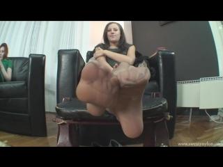 Goddess Jessica Foot Fetish Фут-фетиш sweaty nylons