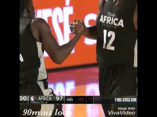TEAM Africa vs  TEAM World  highlights NBA Game #NBAAFRICAGAME h