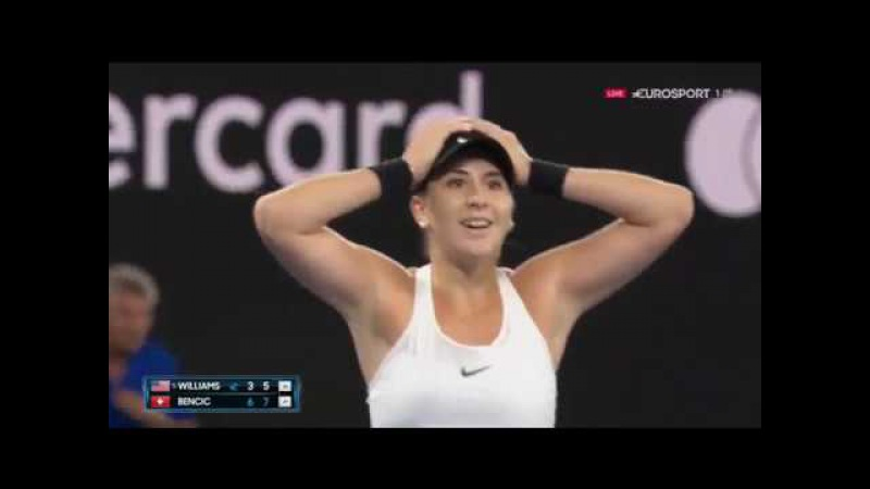 Белинда Бенчич vs Винес Уильямс Australian Open 2018 первый круг основные моменты