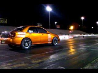 Turbotrix Orange Subaru Drag Car