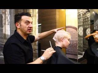 Platinum Blonde Pixie Cut by Adam Ciaccia