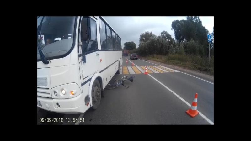 На улице Калинина автобус сбил велосипедистку