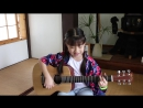 キセキ Kiseki - GReeeen Guitar Acoustic cover by Gail Sophicha 9 years old.2015.