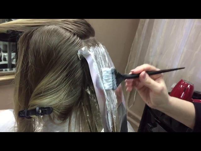 Окрашивание волос техникой Air Touch (Прикосновение воздуха)