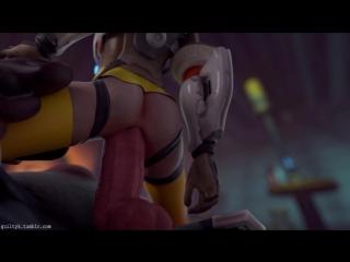 3d porn -tracer x roadhog (overwatch sex)