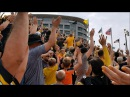 Hawkeye Fans Wave to UI Stead Family Children's Hospital