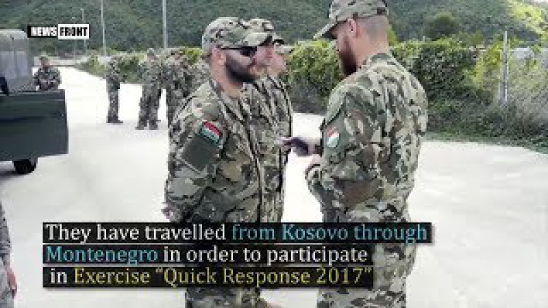 Силы Косово KFOR прибыли на Балканы для участия в Быстром ответе 2017