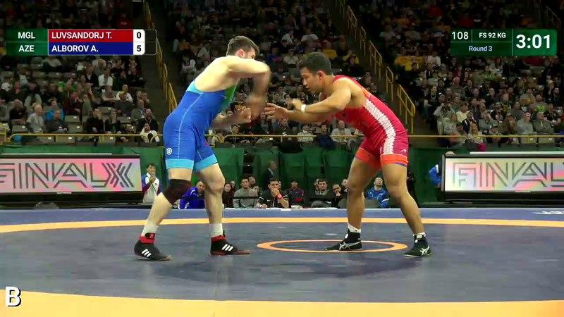 Round 3 FS - 92 kg: T. LUVSANDORJ (MGL) v. A. ALBOROV (AZE)