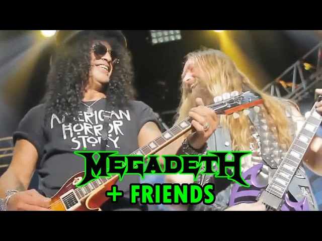 Megadeth Slash Zakk Wylde Jason Newsted Vinnie Paul 2013 Cold Sweat