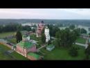 Stock-footage-footage-of-drone-flight-above-the-spaso-borodinsky-monastery-in-shevardino-village-from-the-birds-si 2
