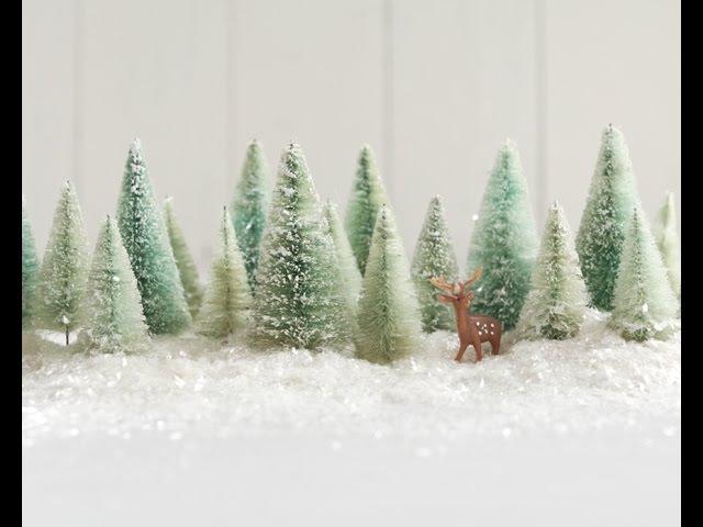 How to Bleach Sisal Bottle Brush Trees for Christmas!