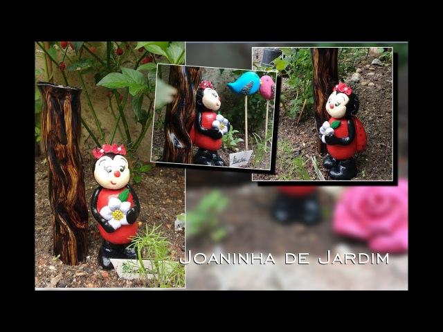 DIY RECICLE SEMPRE Como Fazer Joaninha para enfeitar seu Jardim super fácil