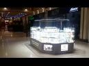 Направленное освещение торгового острова в ТЦ РИО. Подсветка витрин в ТЦ РИО.