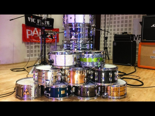 11 snare drums comparison of Ludwig Tama Yamaha Sonor SJC Beverley