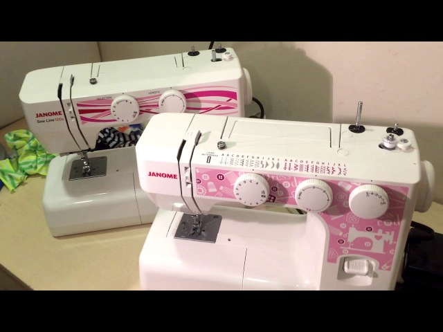 Janome Dress Code против Janome SewLine 500s! Мощность 60W или 85W