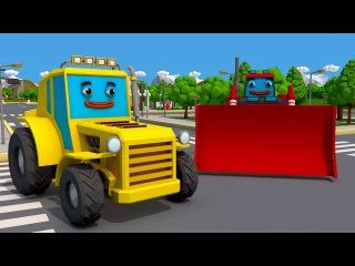 Amarillo Tractor Videos Para Niños - Nuevo Carros y Camiones Infantiles