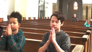Ave Maria Bach Leila  family singing in church))))