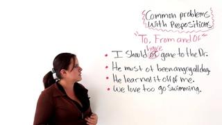 Common Preposition Problems